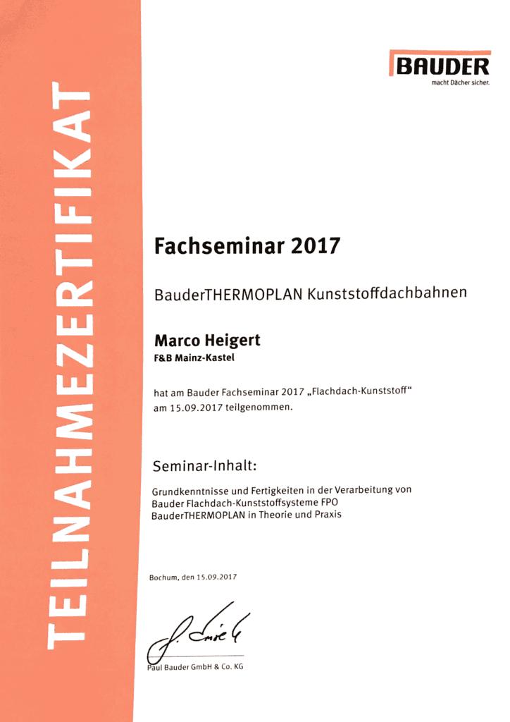 Bauder Thermoplan 2017