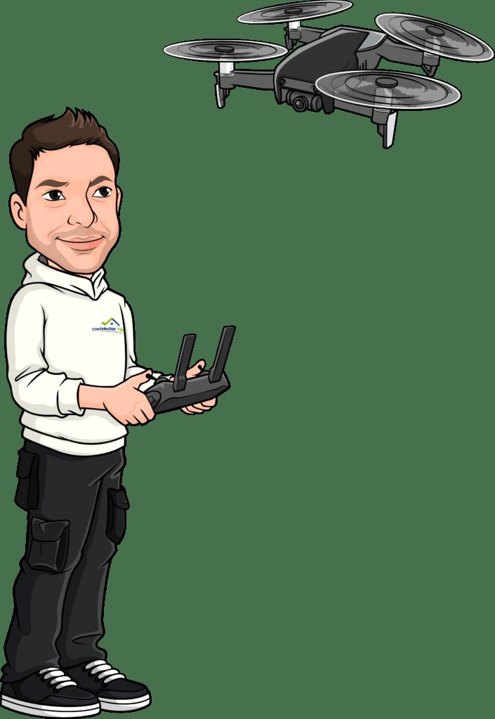 Figur mit Drohne